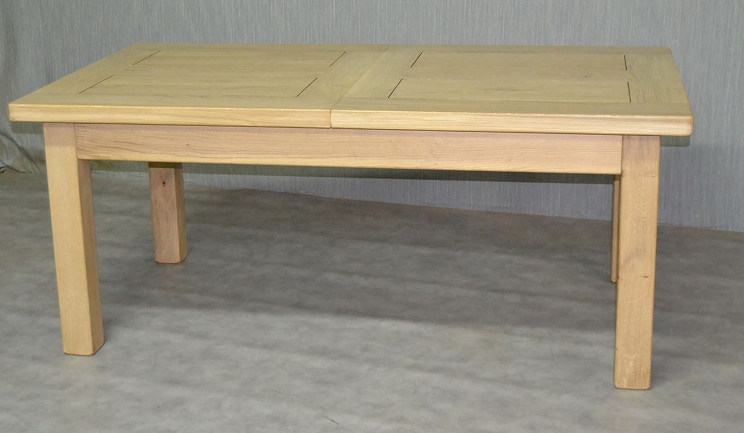 Table bois massif rallonge for Table en bois